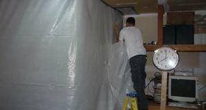 Water Damage Upland Sealing In Mold With A Vapor Barrier
