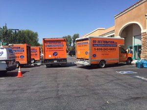 Commercial Restoration Vans Site Job